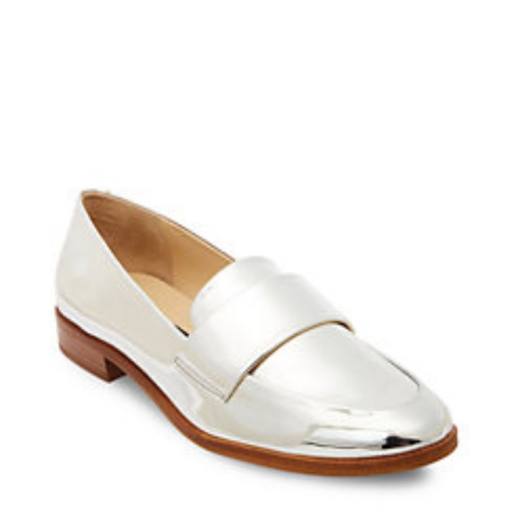 8e0445b71c4 Steven by Steve Madden Quintus Silver Loafers